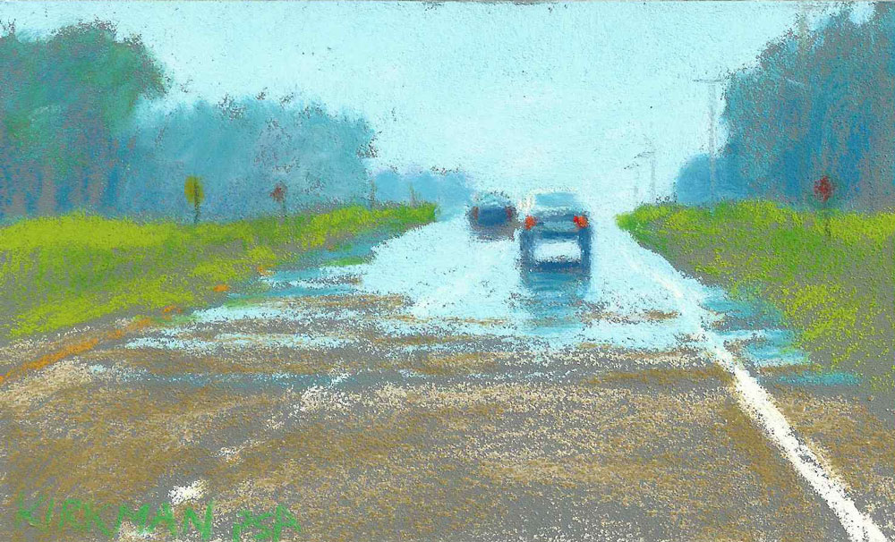 Road Sketch 19 original fine art by Rita Kirkman