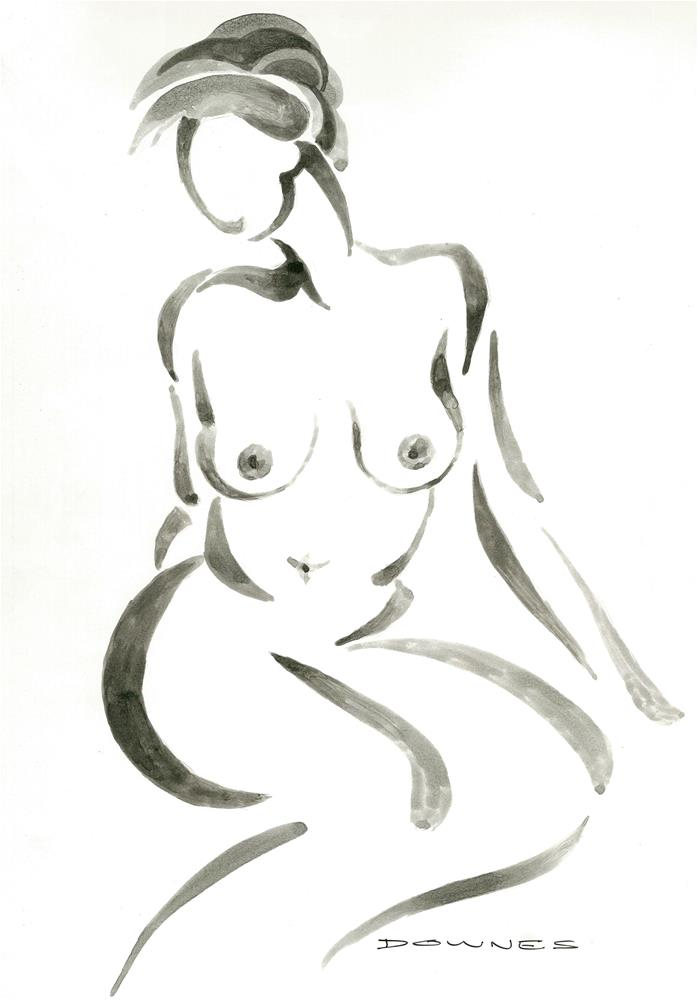 """020 NUDE 6"" original fine art by Trevor Downes"