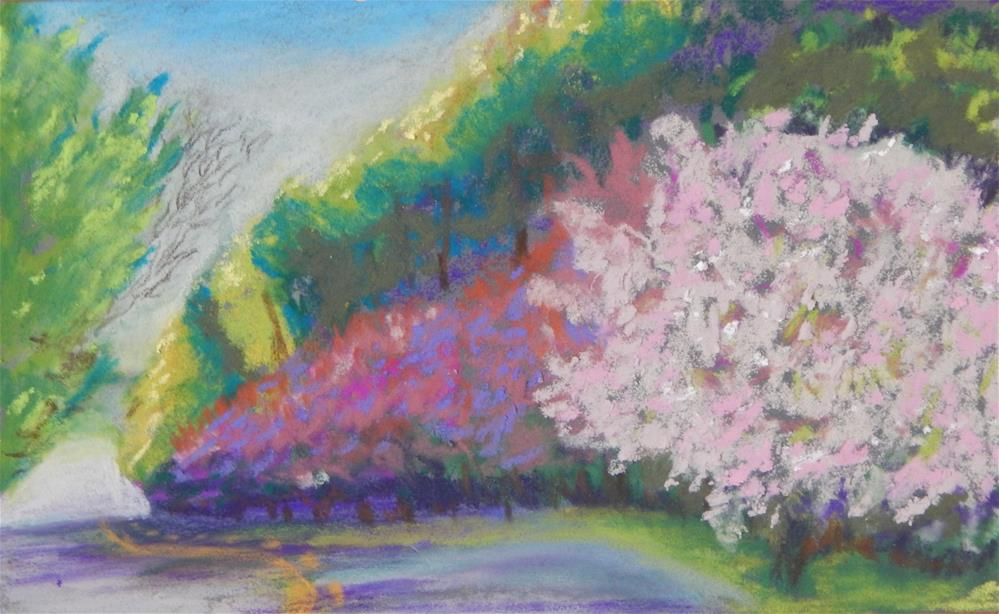 """Spring on Down the Road"" original fine art by Elaine Shortall"