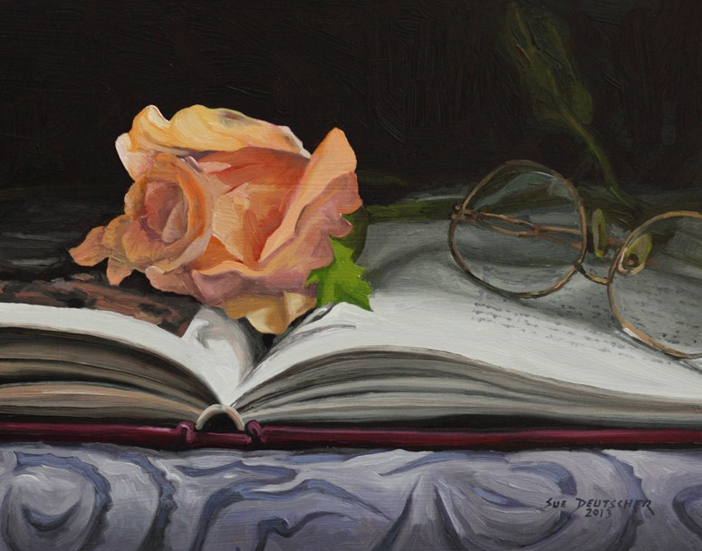 """Bookmark"" original fine art by Sue Deutscher"