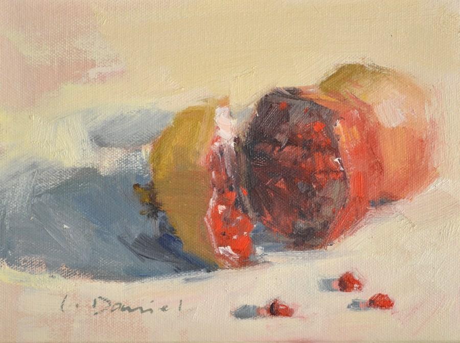 """Healing Fruit"" original fine art by Laurel Daniel"