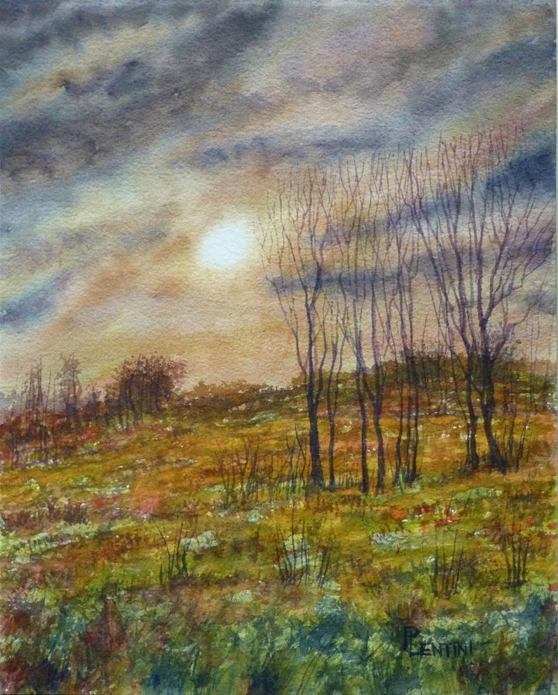 """Late Autumn Evening"" original fine art by Peter Lentini"