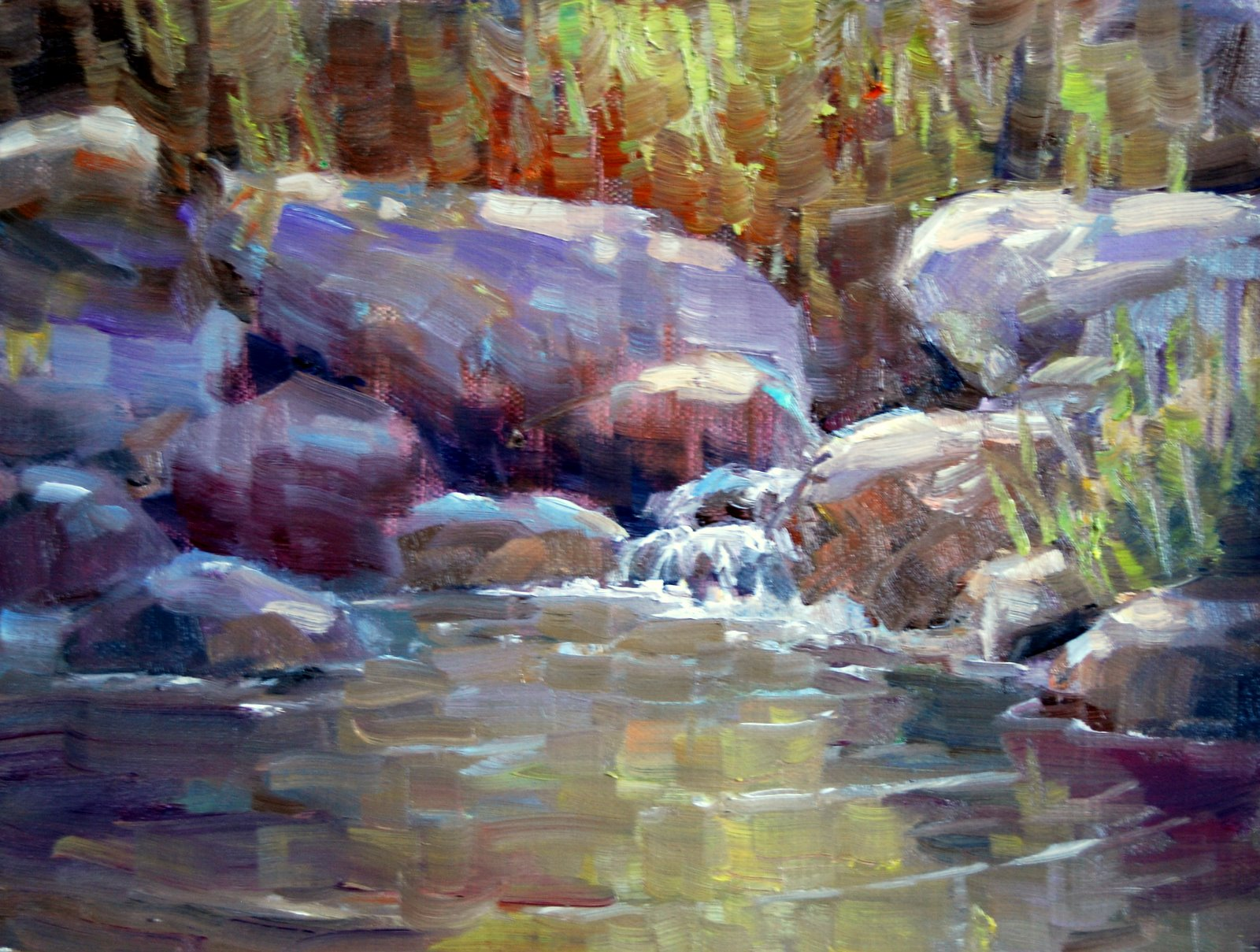 """Quiet Pool"" original fine art by Julie Ford Oliver"