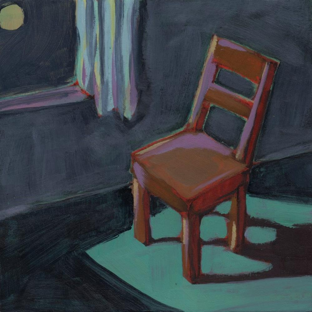 """Waiting in the Moonlight (#299)"" original fine art by Brian Miller"