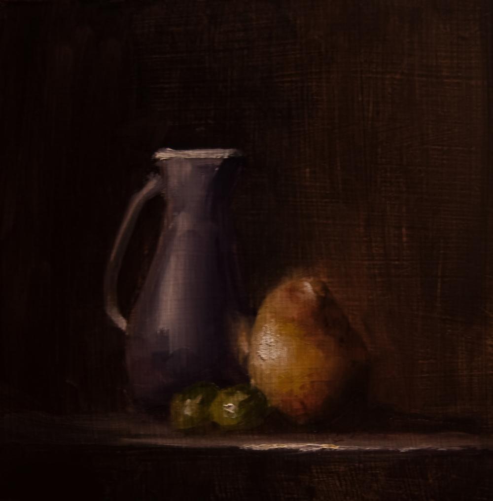 """Jug and Pear"" original fine art by Neil Carroll"