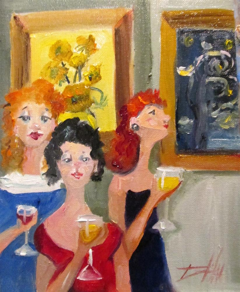 """Wine and Art"" original fine art by Delilah Smith"