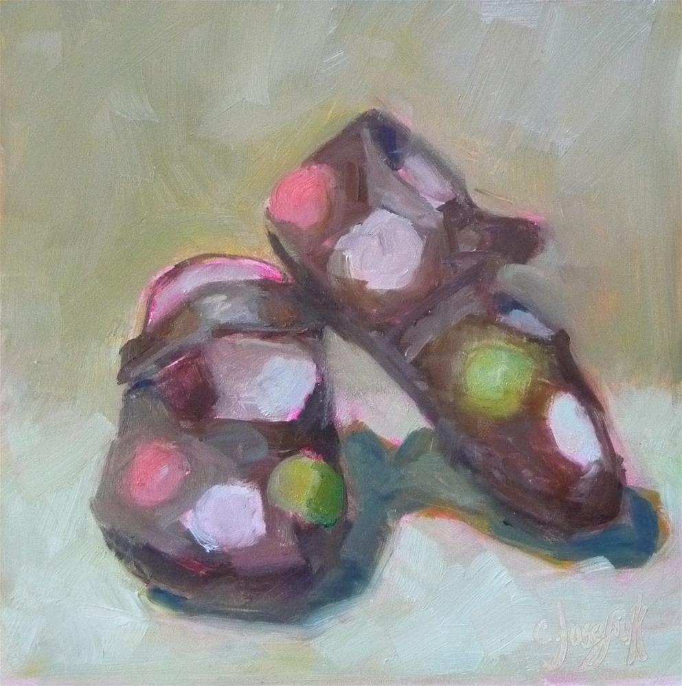 """Hannah's Shoes"" original fine art by Carol Josefiak"