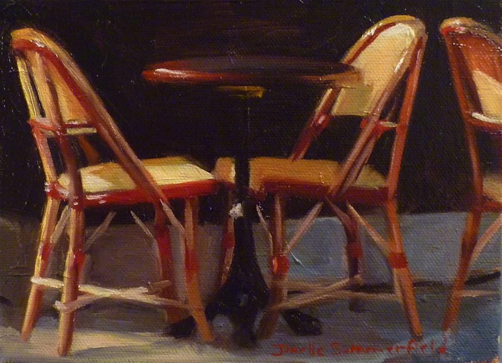 """Cafe Chairs"" original fine art by Jonelle Summerfield"