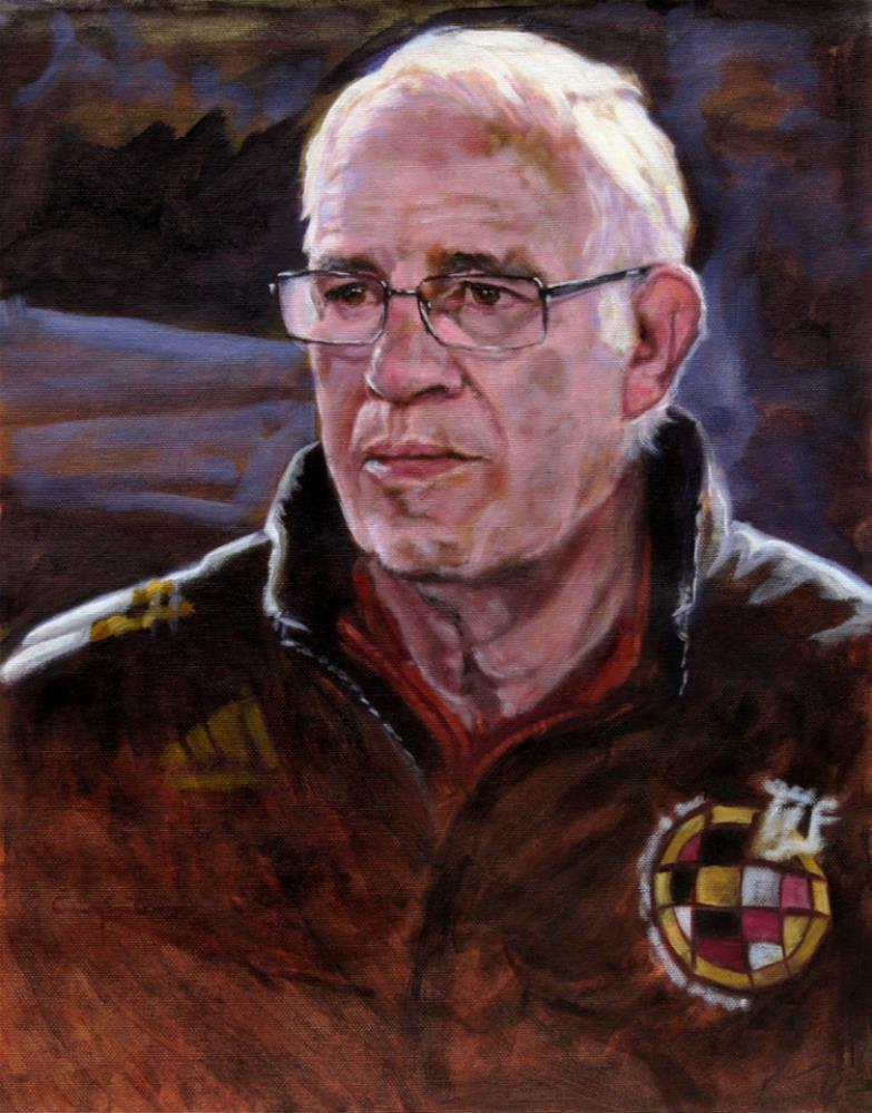 """Luis Aragonés"" original fine art by Eduardo Carpintero"