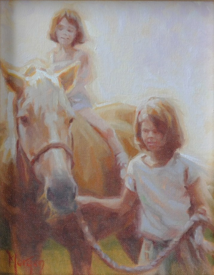 """The Babysitter"" original fine art by Cecile W. Morgan"