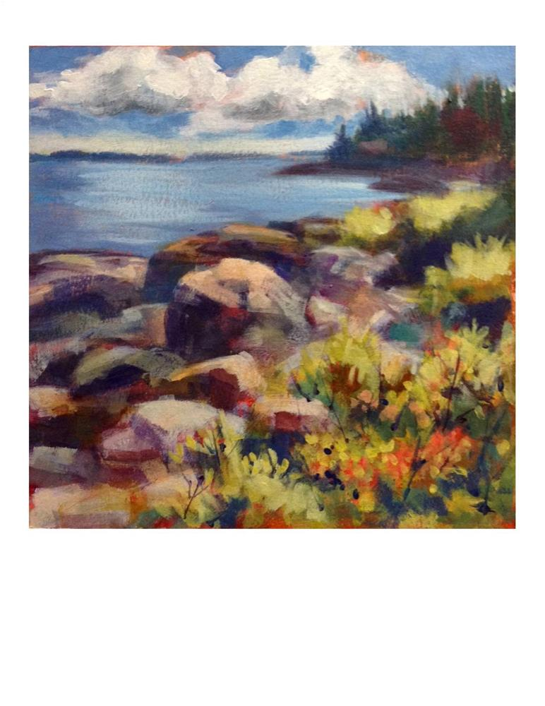 """Port Clyde Summer Day"" original fine art by Suzanne Woodward"