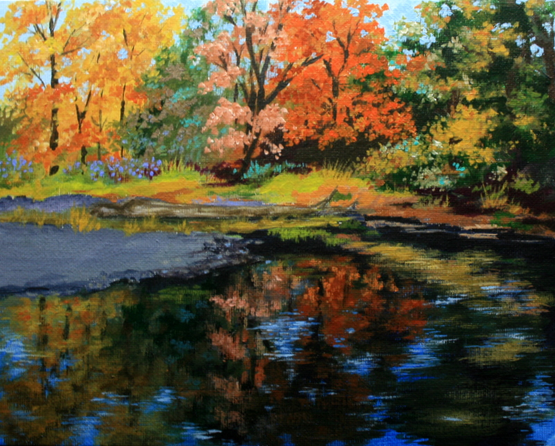 """Reflecting the Season"" original fine art by Jean Nelson"