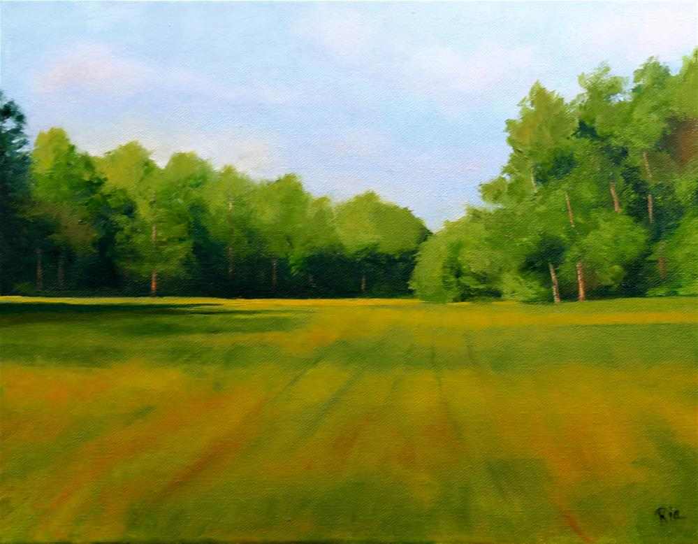 """Peaceful Pasture"" original fine art by Maria Reed"