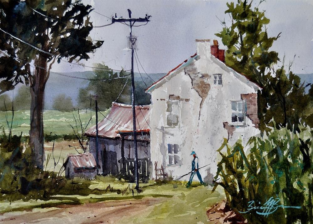 """Fountain Rock Farm"" original fine art by Brienne M Brown"
