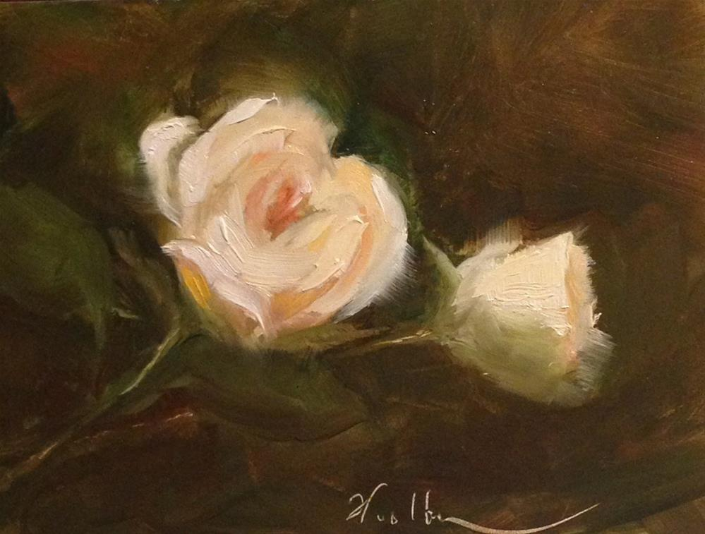 """White Rose"" original fine art by Dorothy Woolbright"