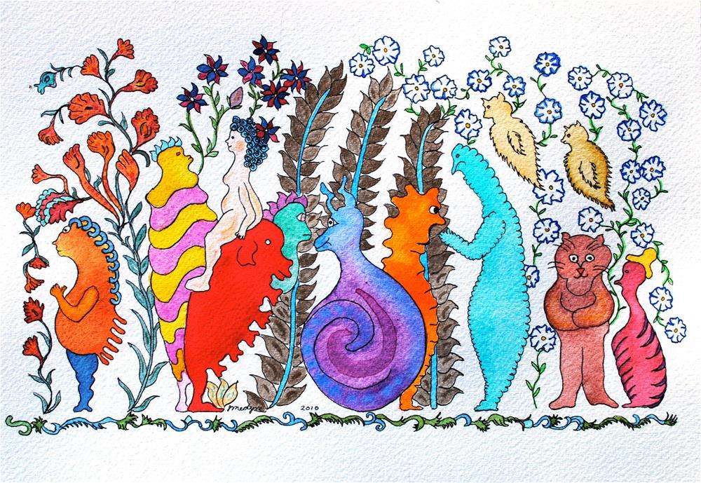 """""""Swirly Q"""" original fine art by Susan Medyn"""