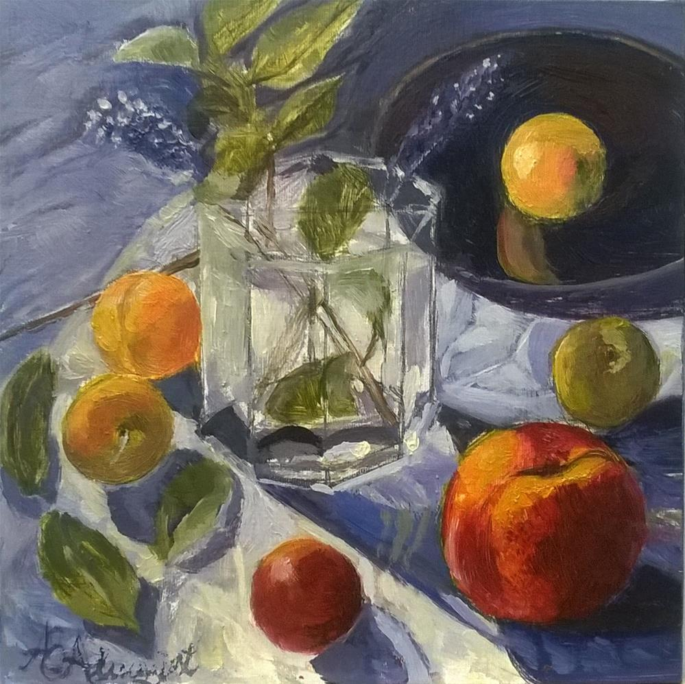 """Crystal Light with Fruit"" original fine art by Adriana B. Almquist"