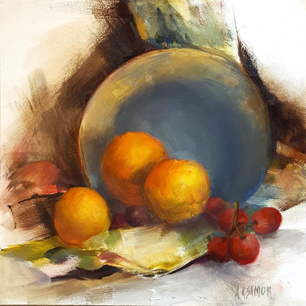 """""""Spillway"""" original fine art by A.K. Simon"""