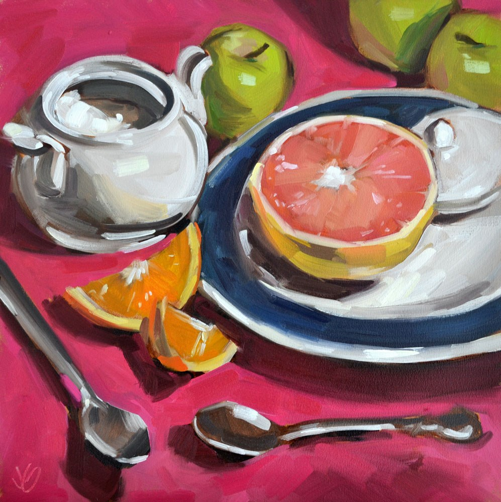 """Breakfast Color"" original fine art by Jessica Green"