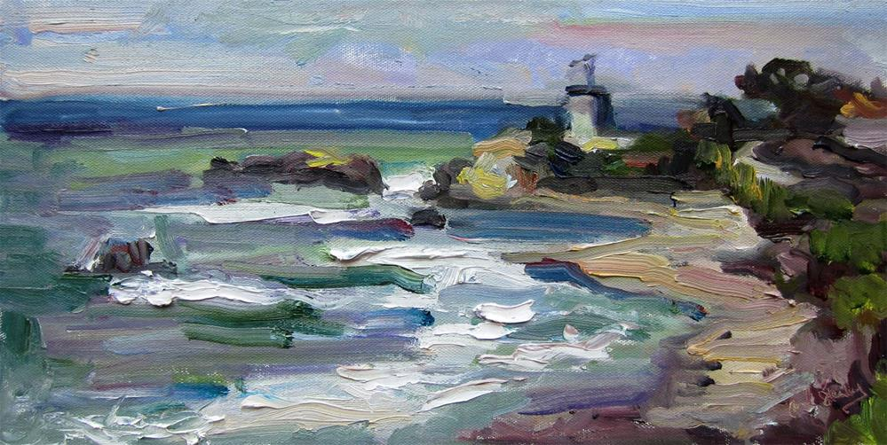 """Leo Carillo Guard Station"" original fine art by Carol Steinberg"