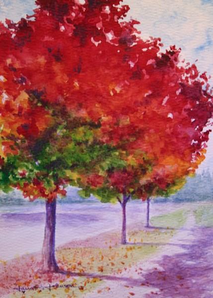 """Red Trees"" original fine art by Jana Johnson"