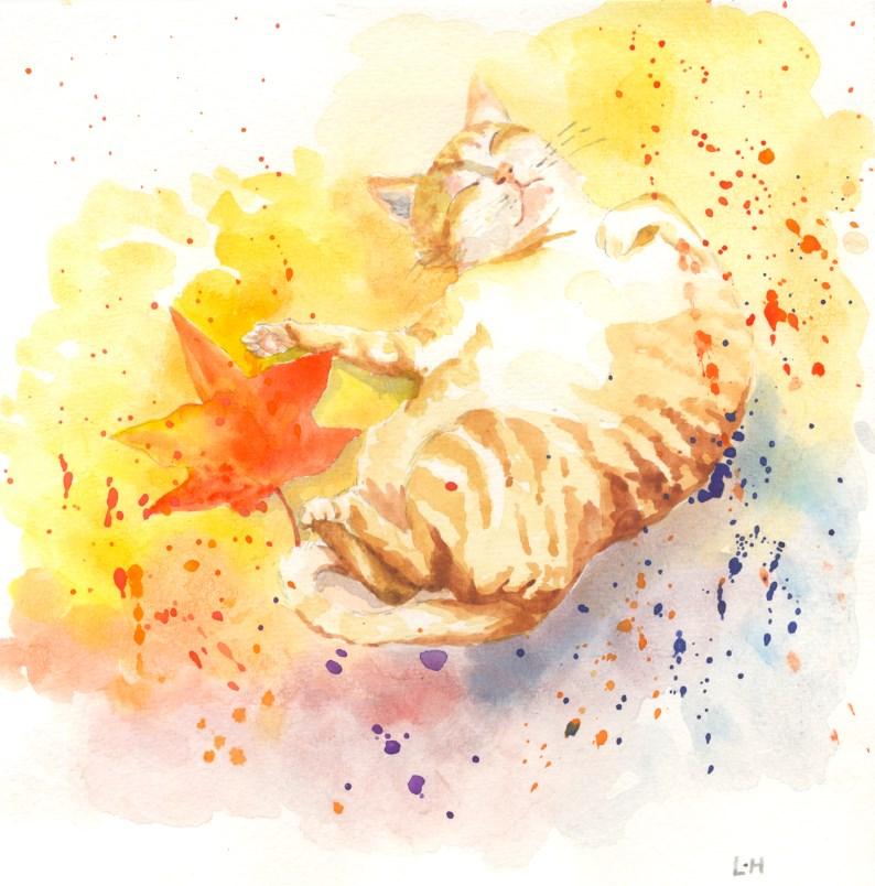 """""""A Lovely Autumn Day"""" original fine art by Hui (Hue) Li"""