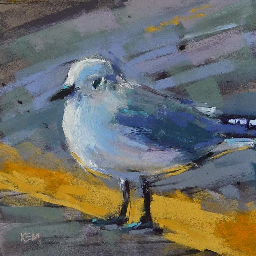 """Painting a Sea Gull"" original fine art by Karen Margulis"