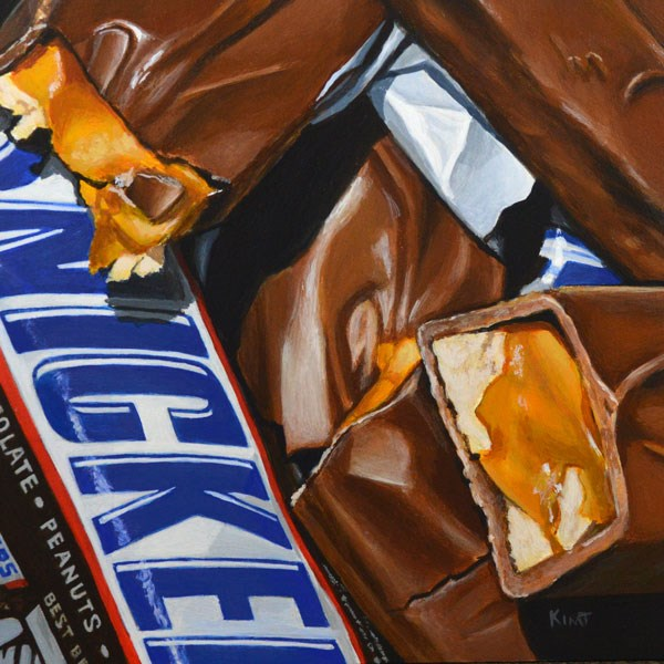 """Chocolate, Caramel and Peanuts"" original fine art by Kim Testone"