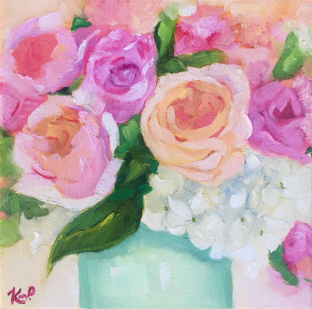 """Spring bouquet #5"" original fine art by Kim Peterson"