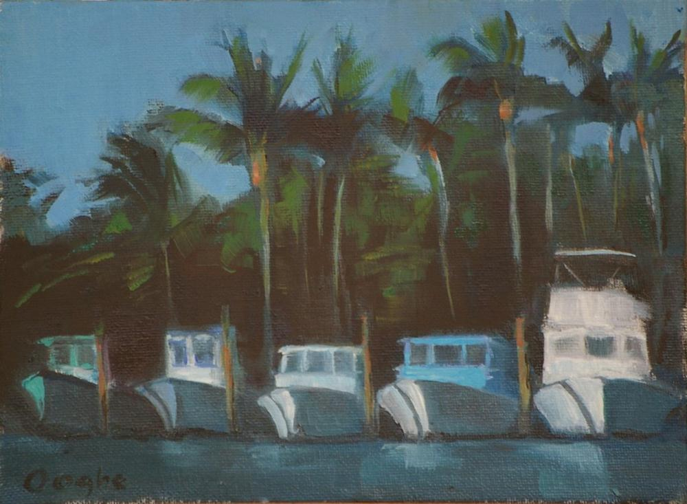 """Fishing Boats"" original fine art by Angela Ooghe"