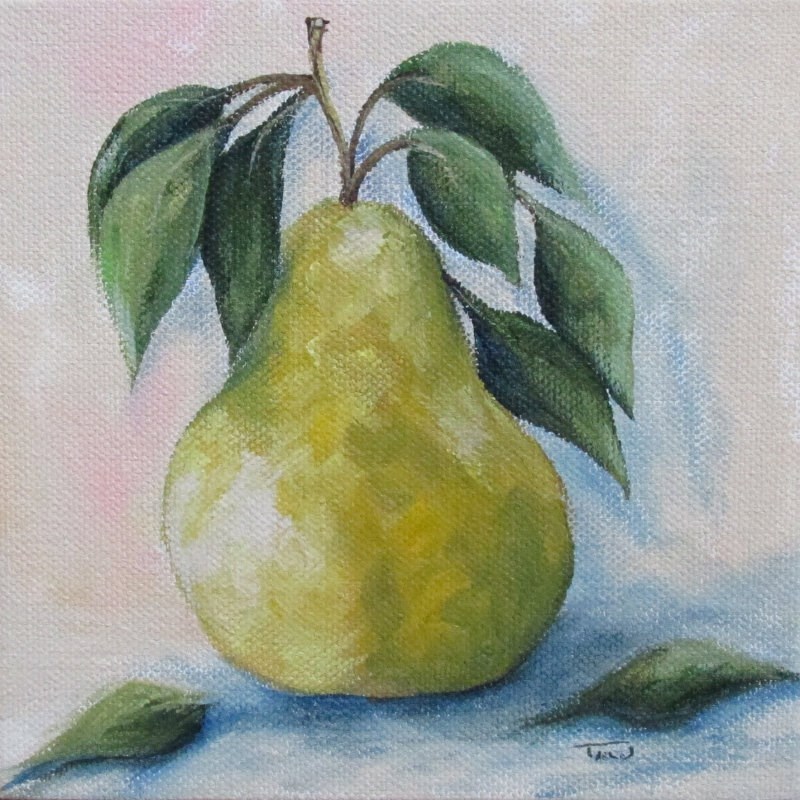 """The Spring Pear"" original fine art by Torrie Smiley"