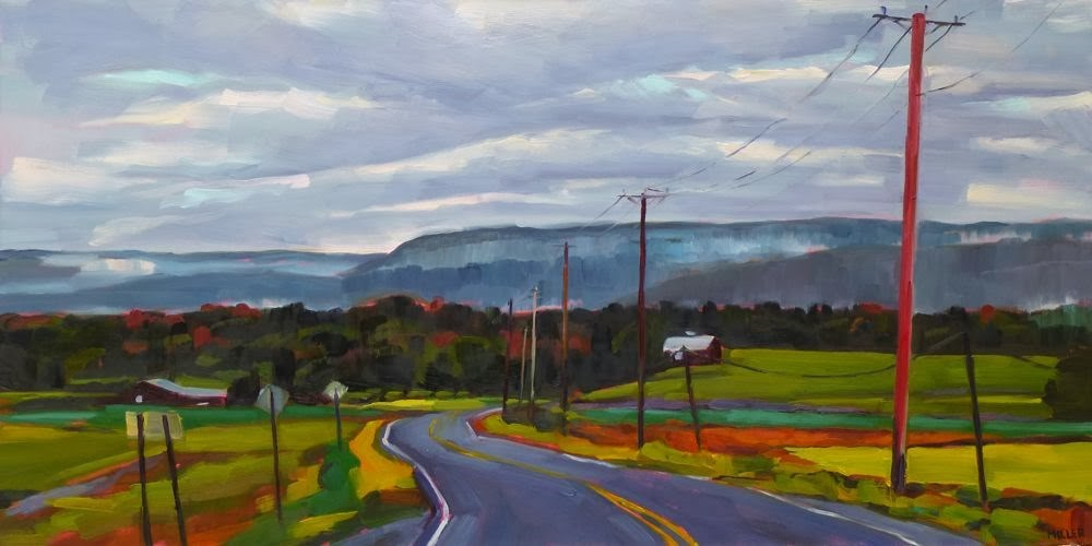 """Road to Minnewaska No. 3"" original fine art by Jessica Miller"