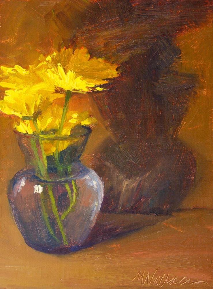 """#19 the power of yellow"" original fine art by Nancy Wallace"