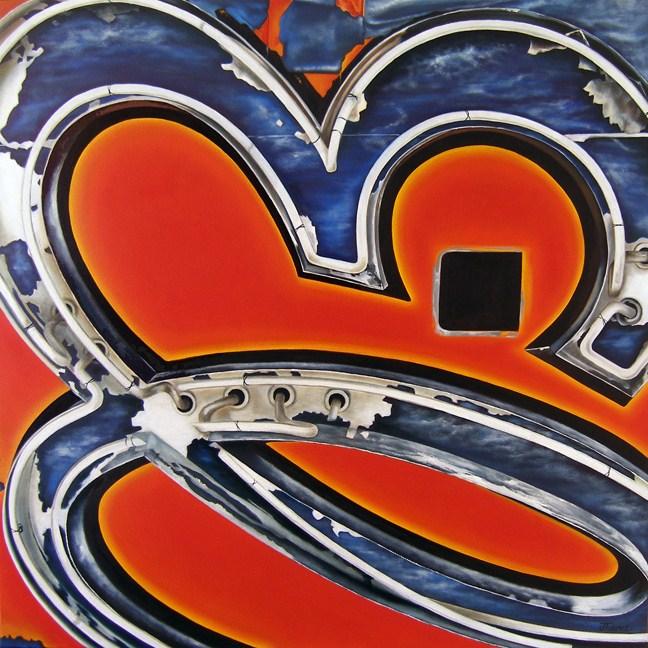 """""""El - Vintage Neon Sign"""" original fine art by Jelaine Faunce"""