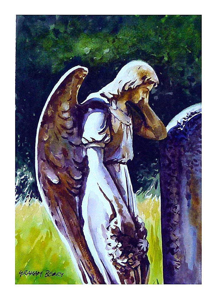 """Angel of sorrow"" original fine art by Graham Berry"