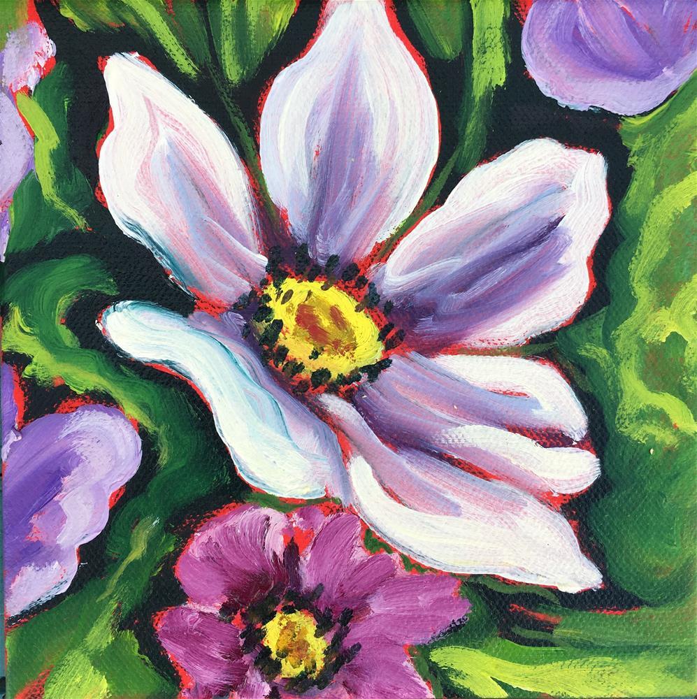 """""""Spring Cosmo"""" original fine art by Robyn Wellman"""