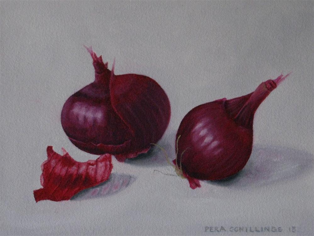 """Red Onions"" original fine art by Pera Schillings"