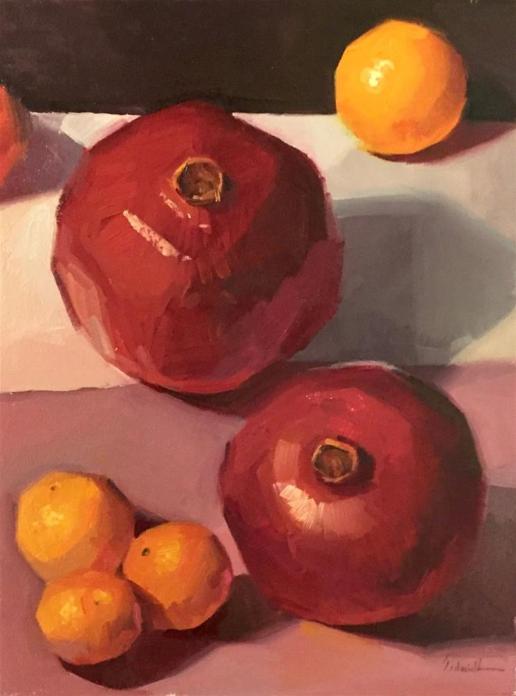 """Fruits of the Season"" original fine art by Sarah Sedwick"