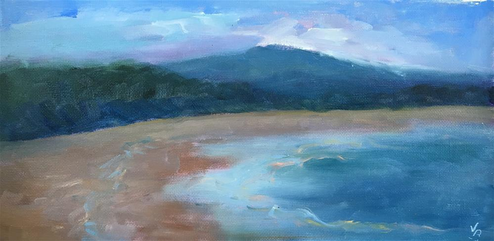 """Otter Rock View"" original fine art by Victoria  Biedron"