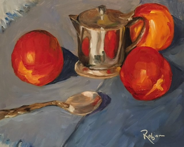 """Peaches and Cream"" original fine art by Renee Robison"