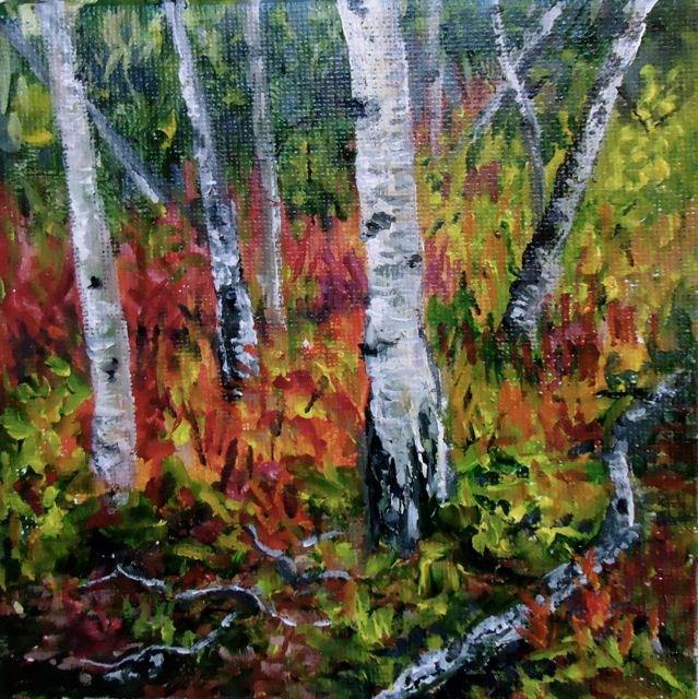 """2015 Yukon Aspens No. 3"" original fine art by Jackie Irvine"