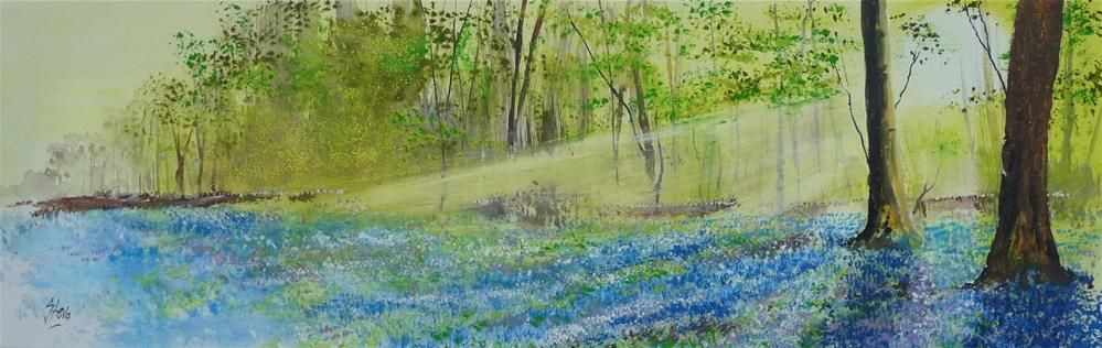 """Bluebell Woods"" original fine art by Martin Stephenson"