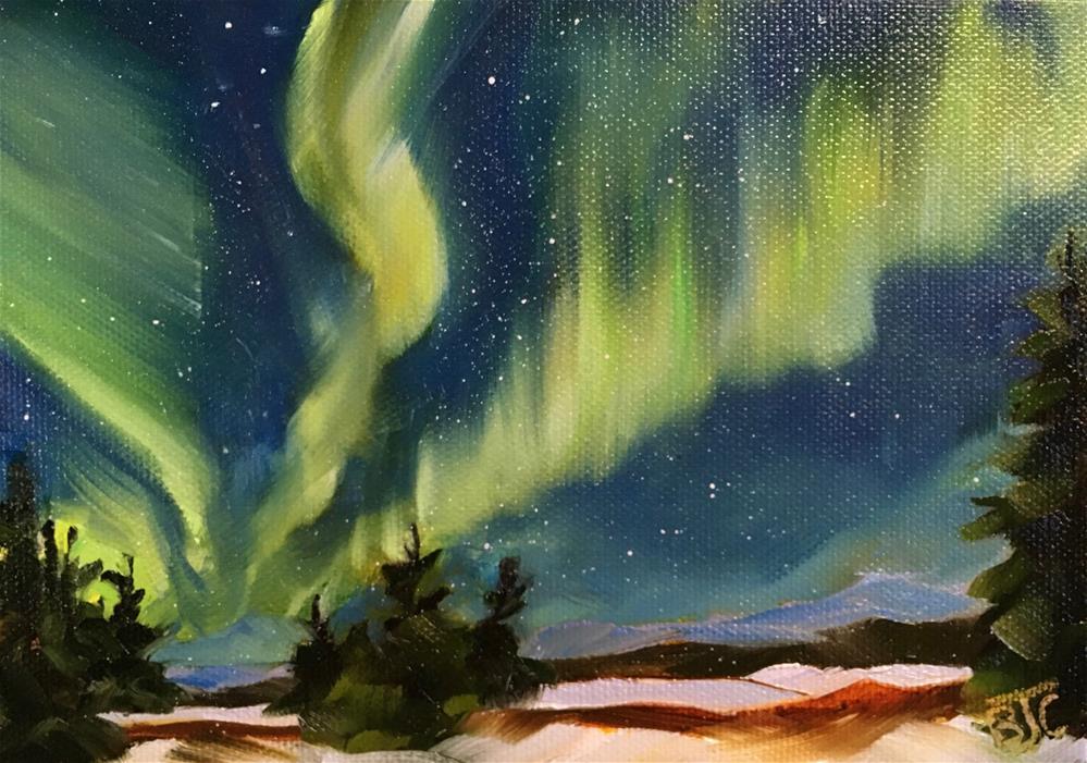"""Aurora Borealis"" original fine art by Bobbie Cook"