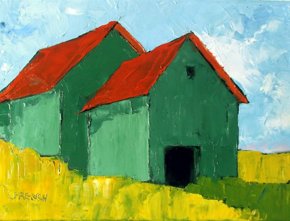 """California Barn"" original fine art by lynne french"