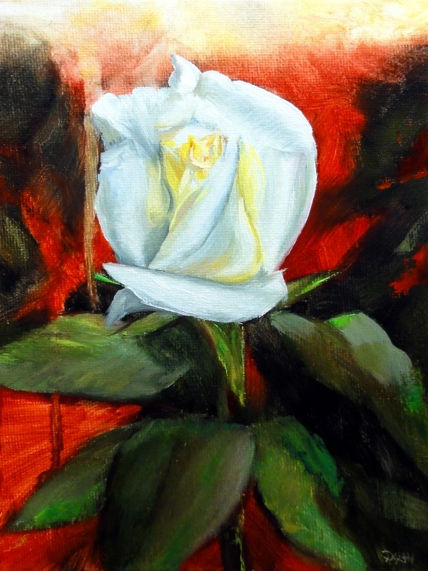 """Single White Valentine"" original fine art by Dalan Wells"
