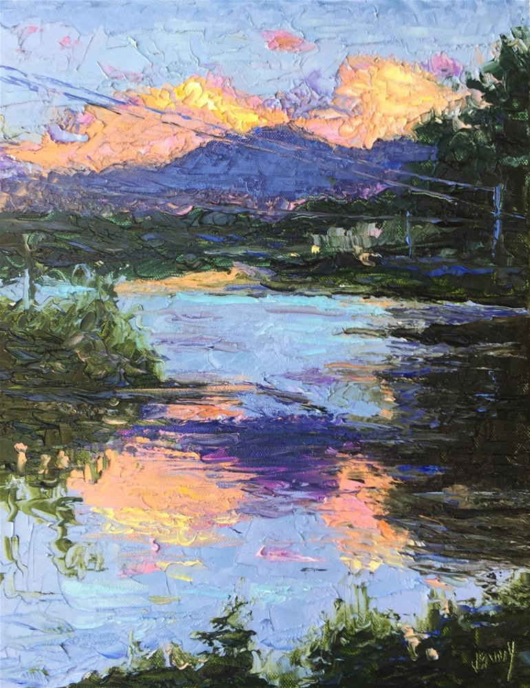 """LJ Evening Glow"" original fine art by Jenny Buckner"