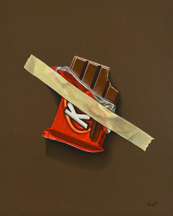 """Kit Kat Emergency Stash"" original fine art by Kim Testone"