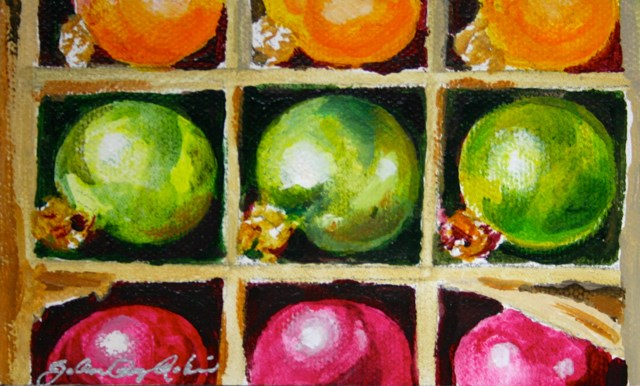 """Box of Bulbs"" original fine art by JoAnne Perez Robinson"