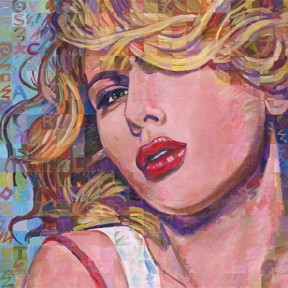 """Scarlett Johansson"" original fine art by Randal Huiskens"