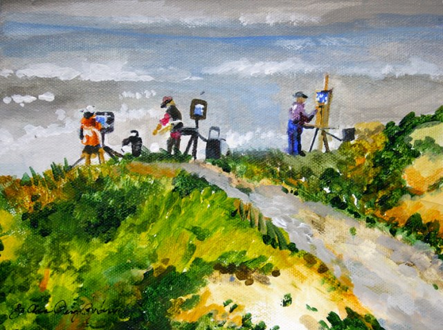 """Plein Air Pals"" original fine art by JoAnne Perez Robinson"